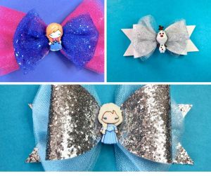 Frozen inspired bows.