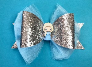 Make a Frozen hair bow.