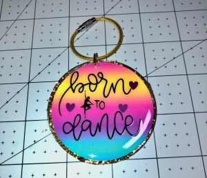 decorate acrylic key chain