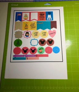 make planner stickers with your cricut
