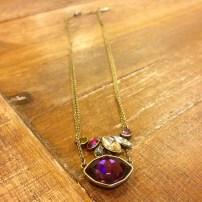 Bouquet Rouge Double Pendant Necklace $48