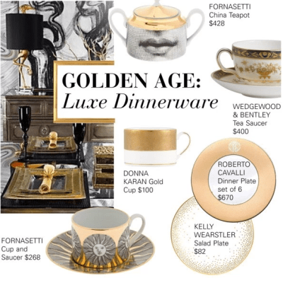 Golden Age: Luxe China Dinnerware