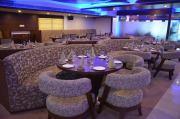 seating and interiors of pacific blue restaurant dehradun