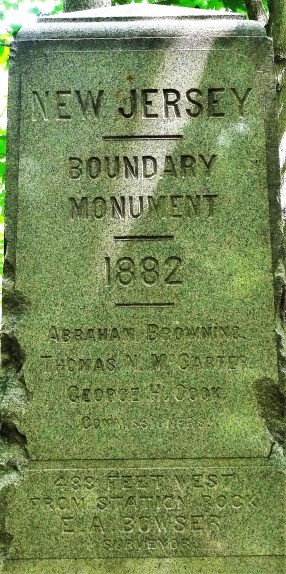 New Jersey Boundary Monument