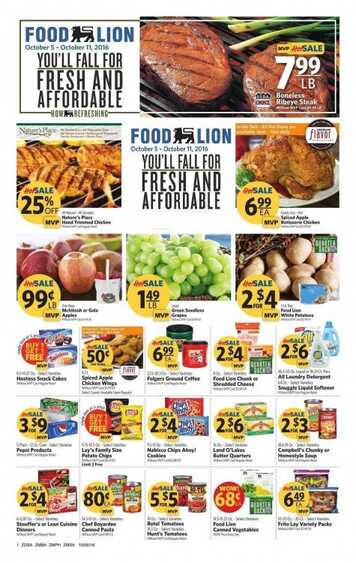 food lion weekly ad new offers valid form 105 until 1011