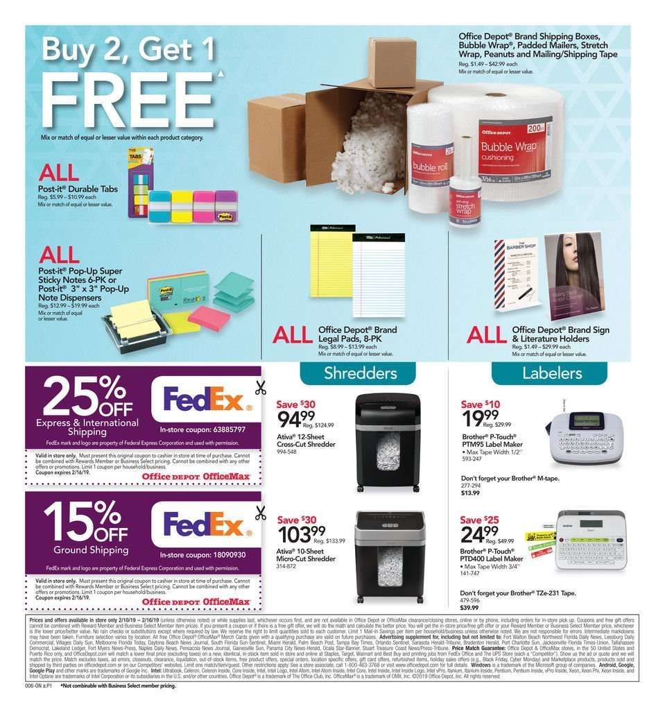 Liquidation World Flyer Office Depot Flyer 02 10 2019 02 16 2019 Weekly Ads Us