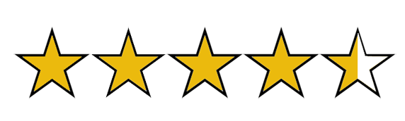 Image result for four and a half stars