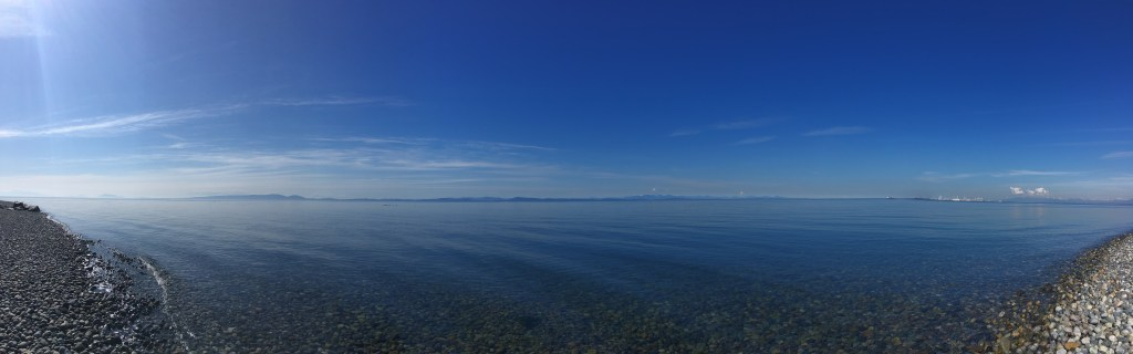 A panorama centered WSW from Lighthouse Park