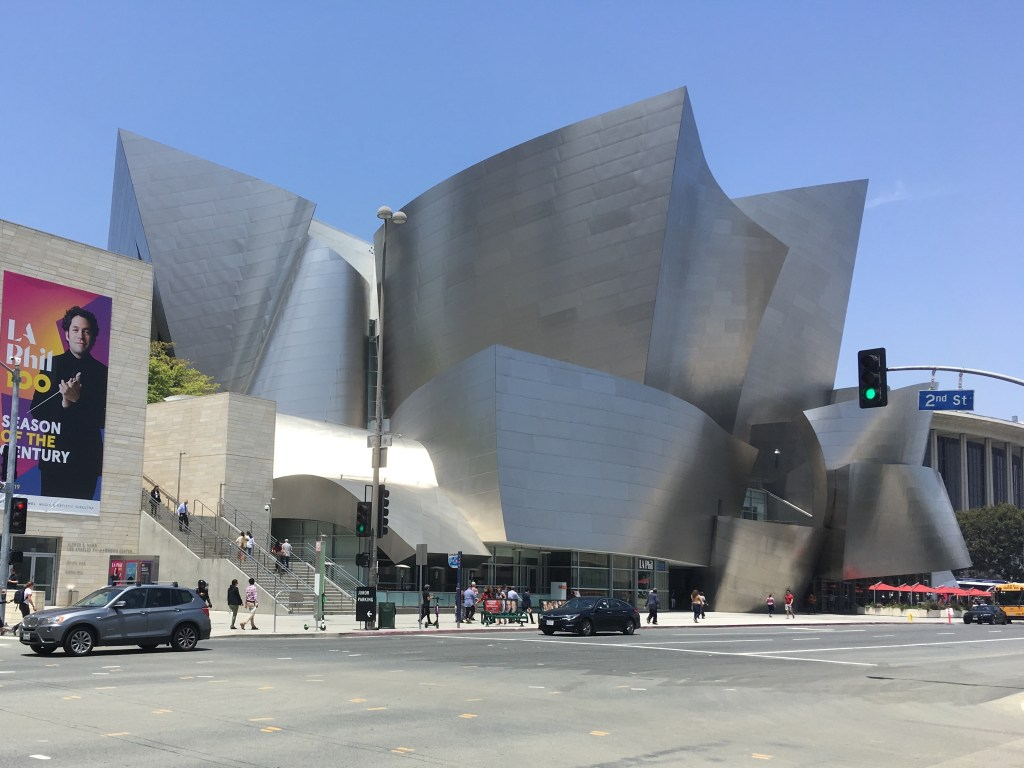 The Disney Concert Hall in downtown L.A.