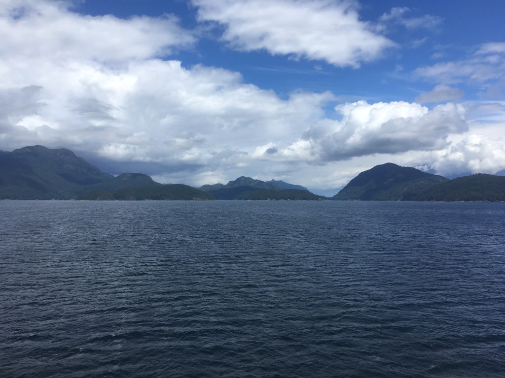 Looking northward from the ferry in Howe Sound