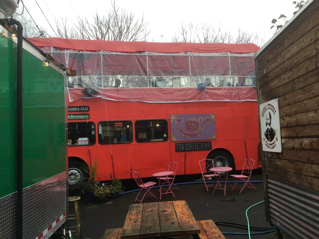 Of COURSE Portland has a double-decker bus that's a coffee bar