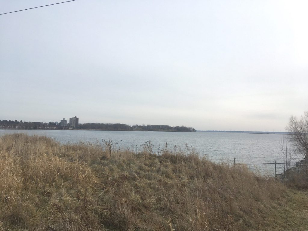 Looking west over Cataraqui Bay from the Invista/DuPont area