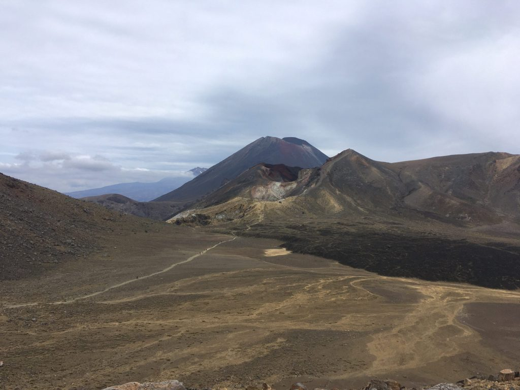 Looking back across Central Crater, toward Red Crater, with Ngauruhoe in the background
