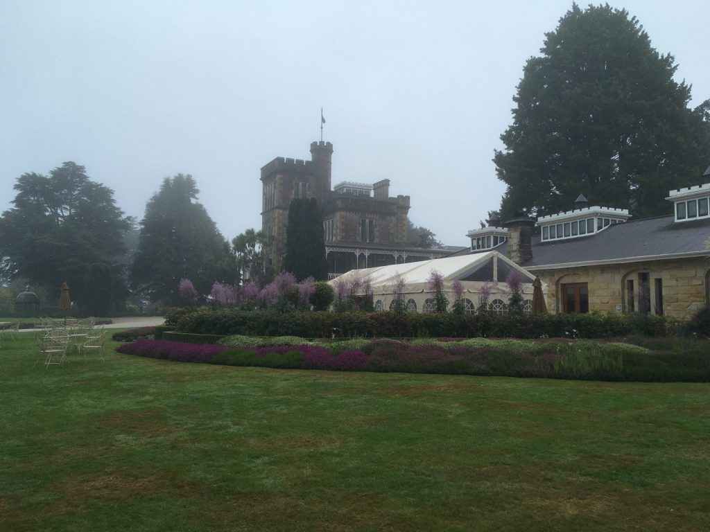 Larnach Castle and front lawn