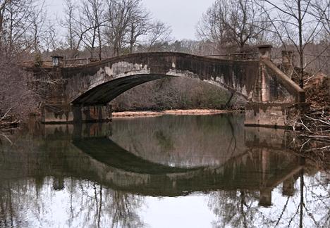 Upstream side of old North Fork Saline River Bridge