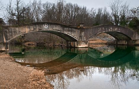 Down stream side of North Fork Saline River Bridge