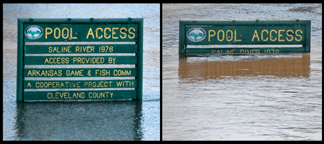 Sign at Arkansas Game and Fish Commission Saline River access point