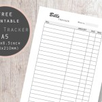 Bill Tracker Printable
