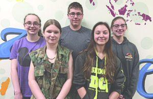 L-R : Isabella Folio, Katie Cisneros, Jack Rado, Rebecca Riebe, Mary Beth Kindlesparker