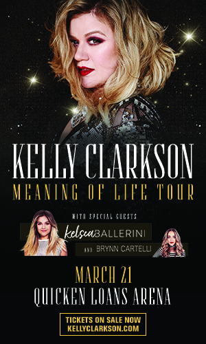 Kelly Clarkson is coming to Cleveland, OH March 21
