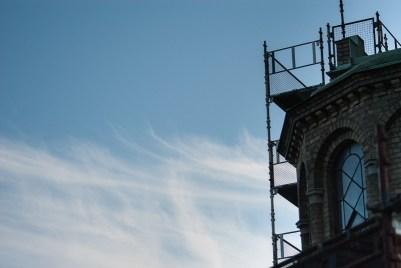 Good weather sky at Sankt Paul's church,