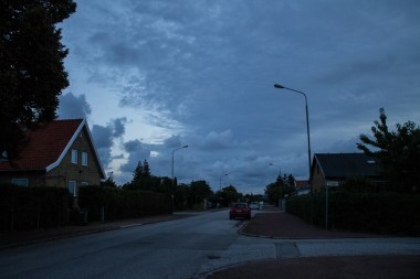 Cloudy sky at dawn. September 16, 2013.