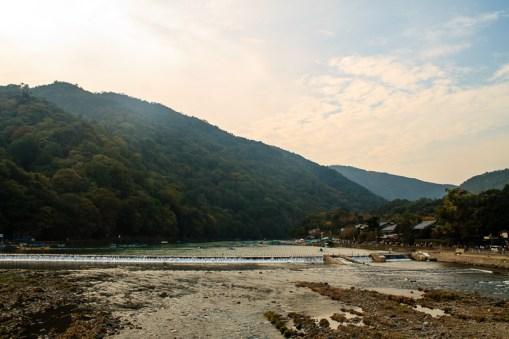River by Arashiyama in Kyoto.