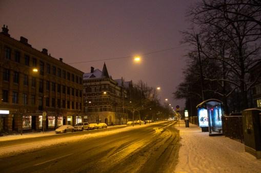 Along Föreningsgatan in the morning.