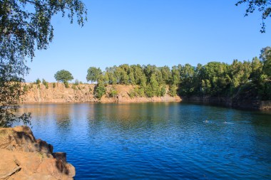 Dalby quarry is filled with water and a popular outdoor bath.