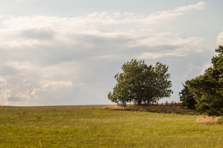 Beautiful sky in the countryside on Österlen.
