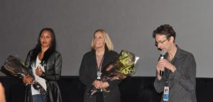 """Kimberley Motley and Danish director Nicole Horanyi at the World Premier of their film """"Motley's Law."""""""