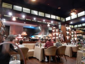 The Italian restaurant within the Mayan Palace.
