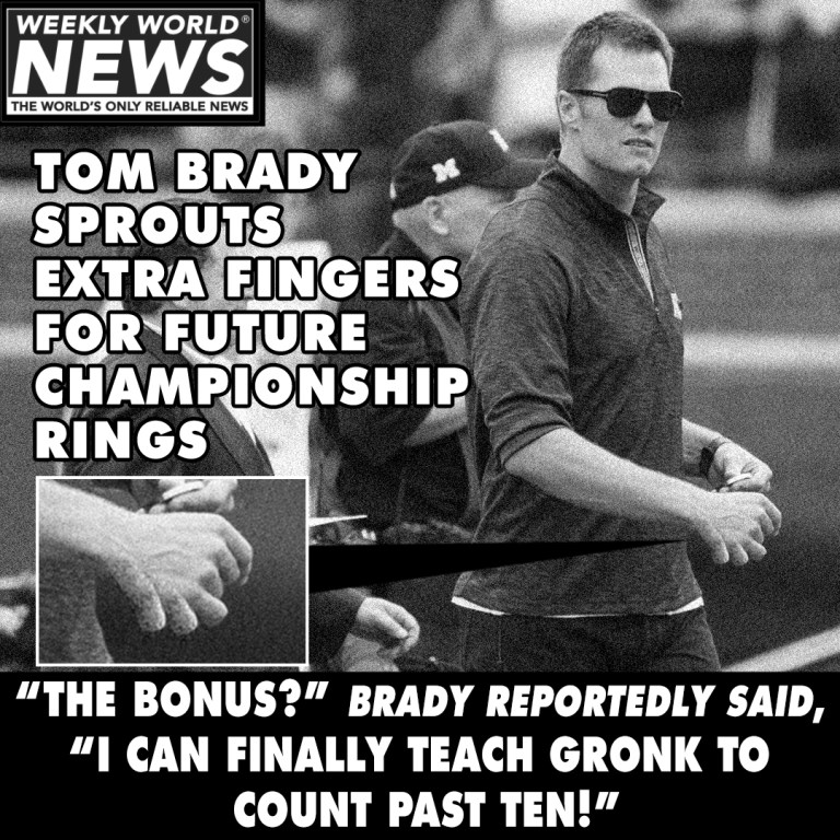 Tom Brady Sprouts Extra Fingers