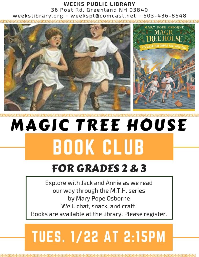 2 15pm Magic Tree House Club Weeks Public Library