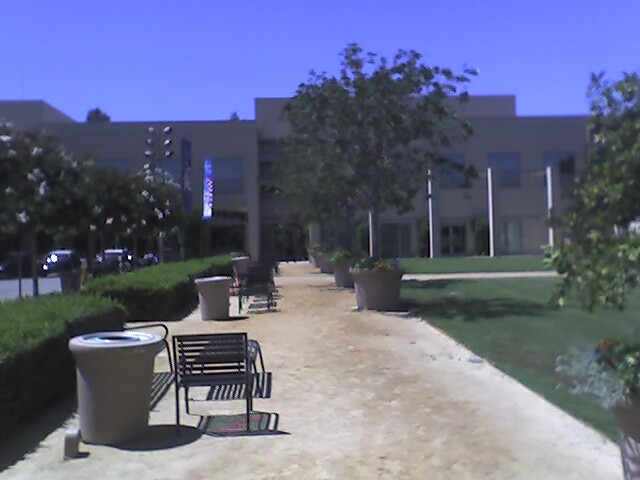 Mission Viejo Library courtyard