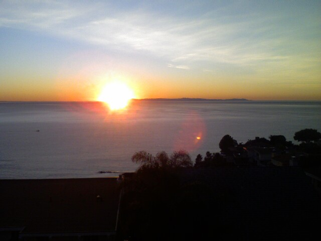 Laguna Beach sunset off of 637 Loretta Drive lower balcony