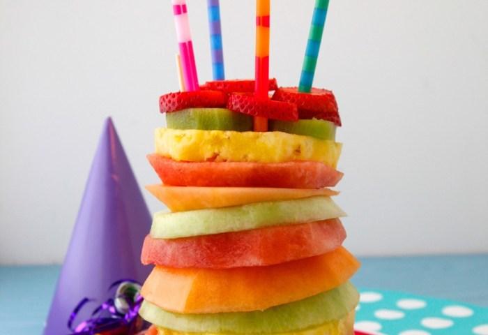 Fruit Tower Birthday Cake Video Weelicious