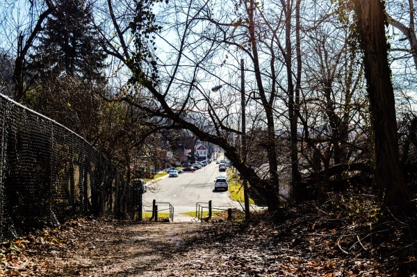 """""""The Path,"""" commonly referred to these days as the, """"Pig Path,"""" links Heiskel Avenue with Elm Street. A street car used to travel along the trail, and it is still used today by children and adults alike."""