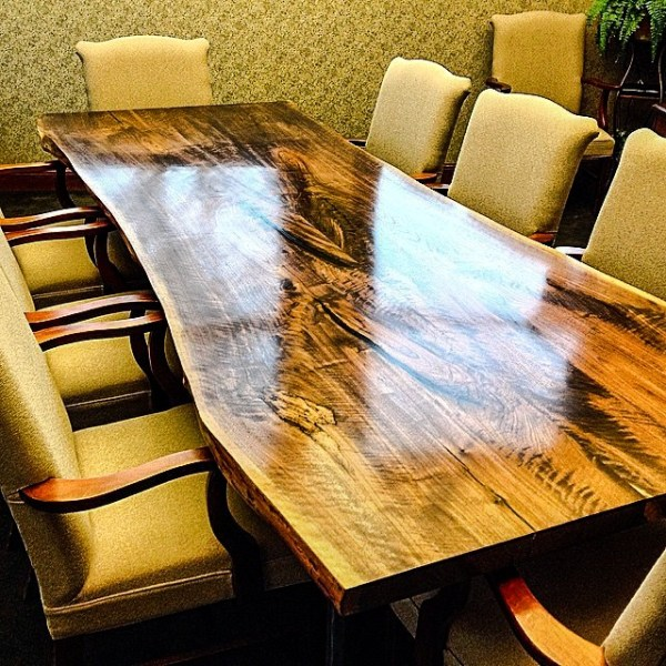 Main Street recently purchased this conference table for use inside its headquarters on Main Street.