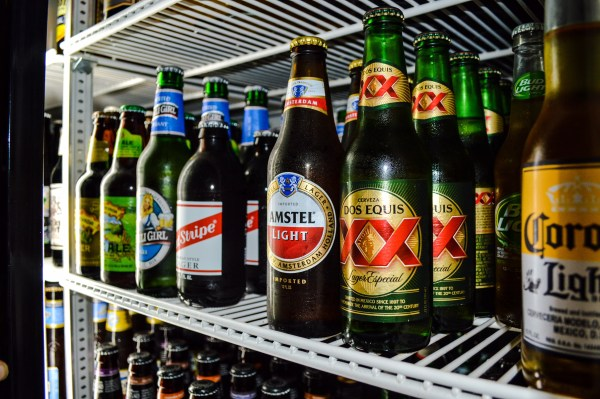 A tavern offers a a plethora of domestic and imported beers.