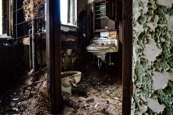 The entire building has deteriorated to an extent that the three Ohio County commissioners have discussed razing the structure.
