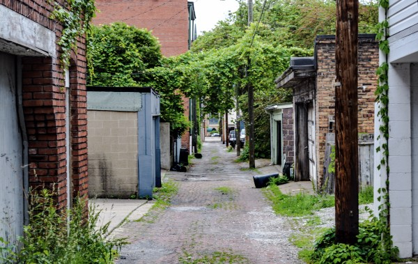 Burgoyne explained that a time car thieves would hide the vehicles in alley garages in East Wheeling.