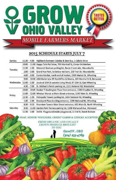 This year's mobile market schedule.