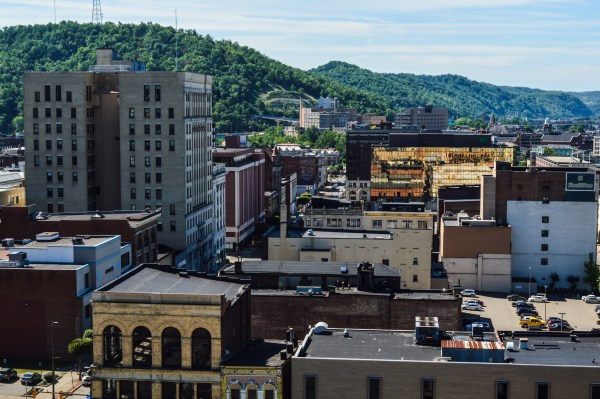 The former Wheeling-Pitt Building, the tallest in the Friendly City, is owned but still empty at this time.