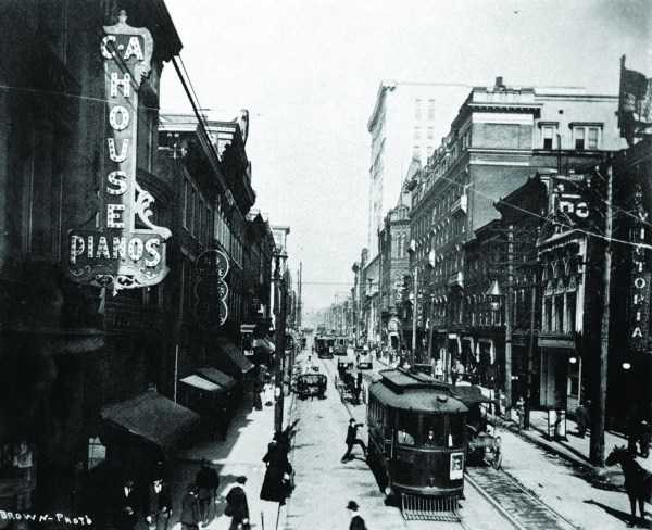 Market Street in downtown Wheeling.