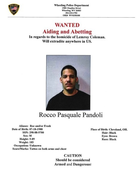 WANTED: Rocco Pasquale Pandoli