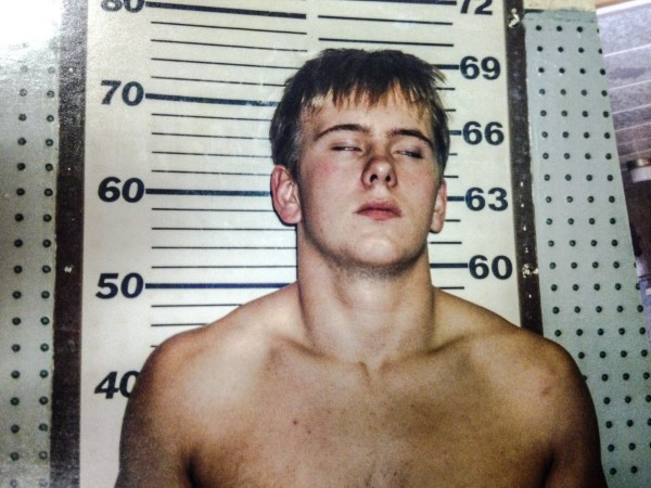 One of the original booking mugshot of Nathan Brooks.