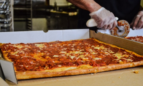 One attraction visited by locals and tourists is DiCarlo's Pizza on Main Street in downtown Wheeling.