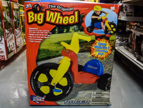 It's still made in the United States, and the Big Wheel remains a solid seller at DeLuxe Toy.