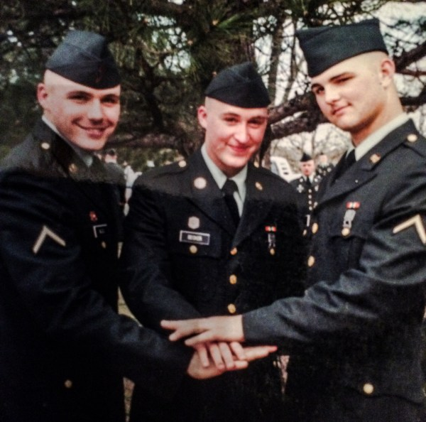 Bliss (far left) joined the Army National Guard in June 2001.